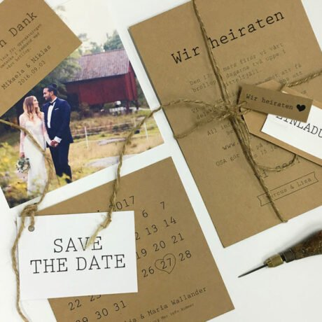 Einladungskarte save the date karte Menükarte