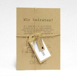 Hochzeitseinladung ohne Anhänger Rügen Natur Vintage