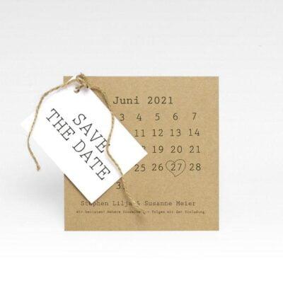 """""""Save the date"""" -Karte mit Anhänger hochzeit Natur Vintage"""