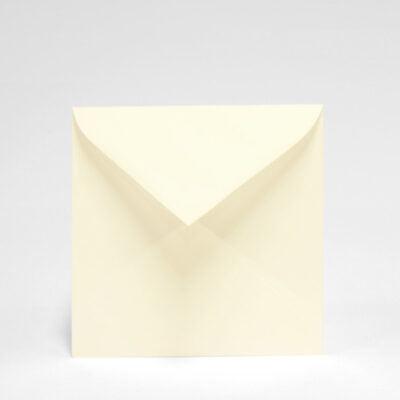 Briefumschlag Cremeweißer quadratischer, 155 x 155 mm