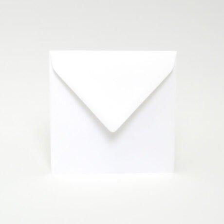 Briefumschlag weiß quadratischer, 155 x 155 mm