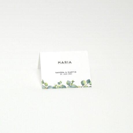 Tischkarte Eucalyptus seite 1