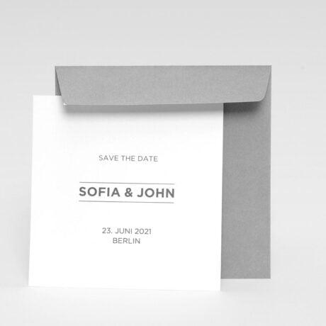 Save the date Karte Bauhaus grau Briefumschlag