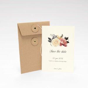 Save the date Karte Briefumschlag mit Schnur Askersund Ivory