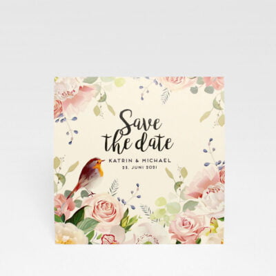 Save the date Karte Duvemåla boho