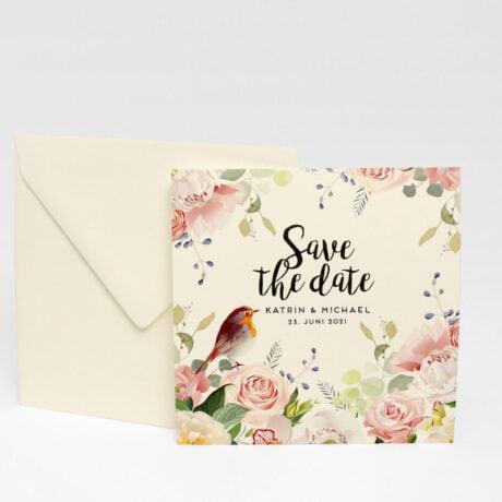 Save the date Karte Duvemåla boho mit briefumschlagt