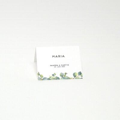 Tischkarte Eucalyptus
