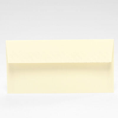 Cremeweißer Briefumschlag Strukturiert, 220 x 110 mm