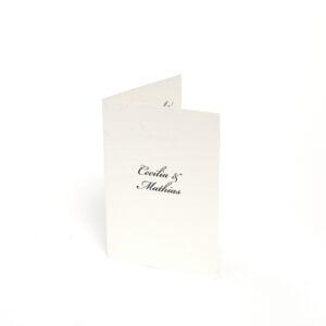 Briefklassische Einladungskarte 4-seitig Stockholm Ivory seite 1
