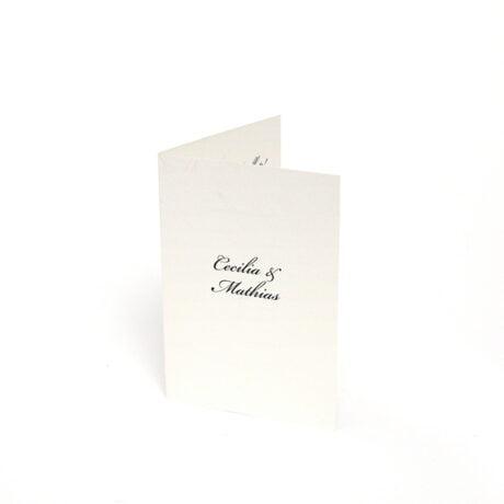 Einladungskarte 4-seitig Stockholm Ivory seite 1