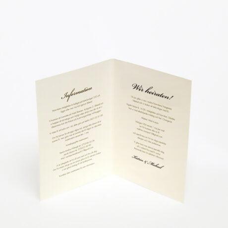 Einladungskarte 4-seitig Stockholm Ivory seite 2-3