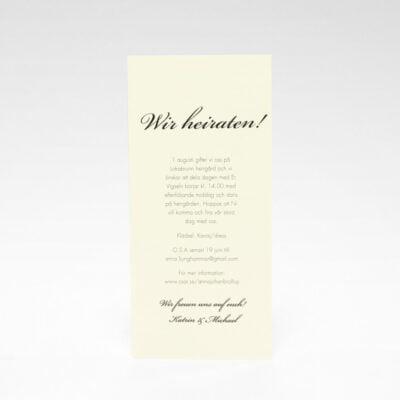 Einladungskarte Stockholm Ivory