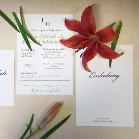 Einladungskarte Vaxholm dekoration
