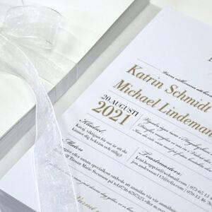 Einladungskarte Romantik Vaxholm dekoration