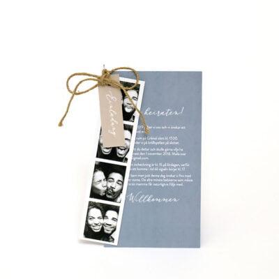Einladungskarte mit Fotostreifen