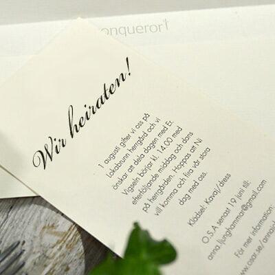 Einladungskarte klassischen Druckartikeln
