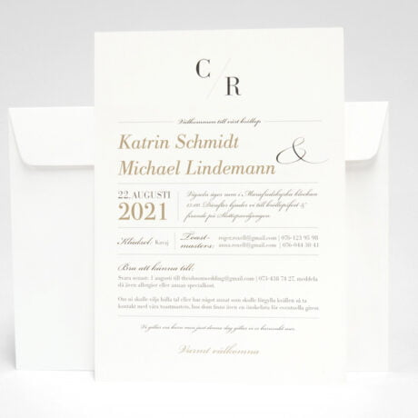 Einladungskarte mit weiß Briefumschlag Vaxholm seite 2