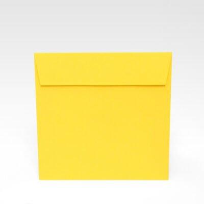 Gelber Briefumschlag 170 x 170 mm