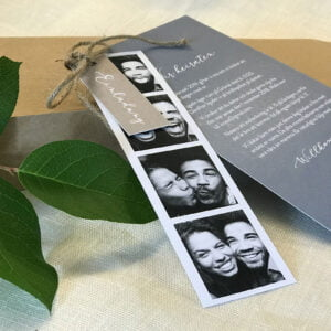 Hochzeitskollektion Happy mit Fotostreifen