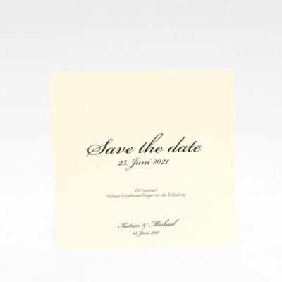 """Save the date""-Karte Stockholm Ivory"