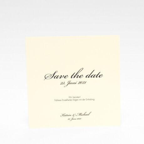 Save the date Karte Stockholm Ivory