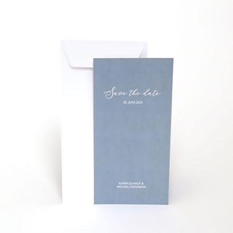 Save the date Karte mit weiße Briefumschlag Happy