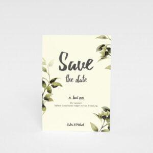 """Save the date""-Karte Göteborg Natur"