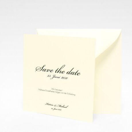 Save the date mit naturweiße Briefumschlag Stockholm Ivory