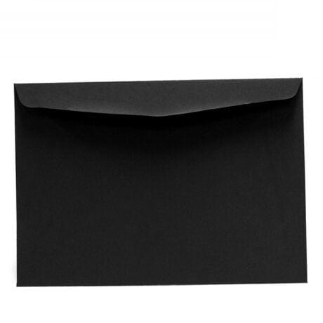 Schwarzer A5-Briefumschlag, 162 x 229 mm