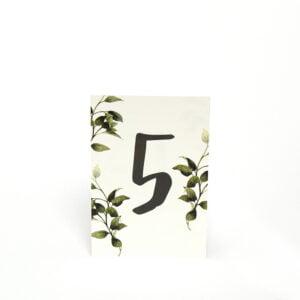 Tischnummerierung Göteborg Natur