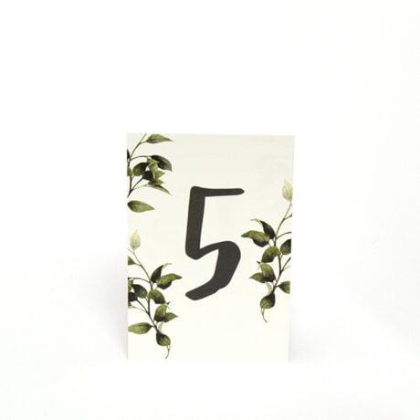 Göteborg Natur Tischnummerierung