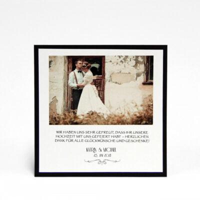 Danksagungskarte Silber für Hochzeiten