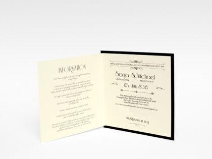 Einladungskarte Gold Hochzeit doppelt