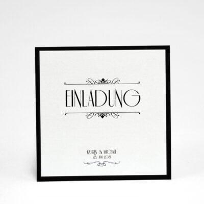 Einladungskarte Silber Hochzeit