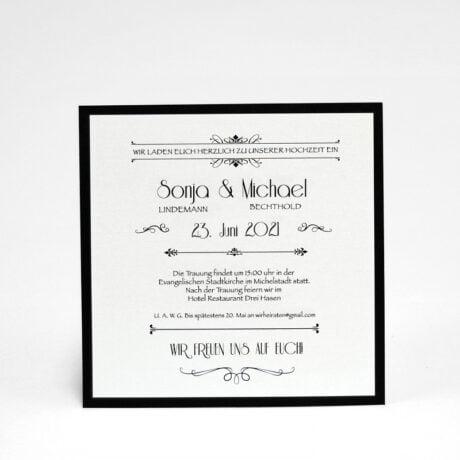 Einladungskarte Silber Hochzeit seite 2