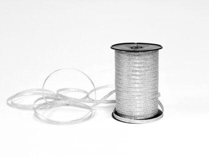 Silber Glitzerband