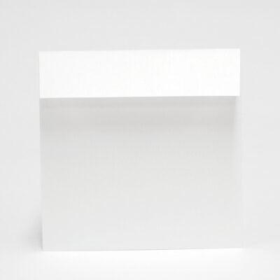 Silberfarbener Briefumschlag, 170 x 170 mm