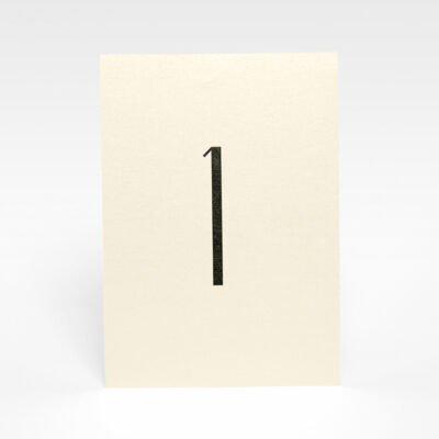 Tischnummerierung Gold
