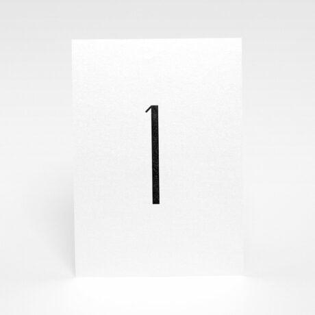 Tischnummerierung Silber
