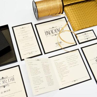 Gold exklusivem print druckartikel hochzeit einladungkarte
