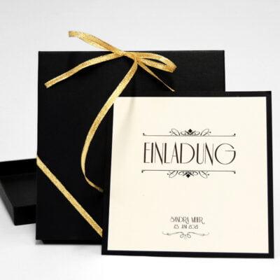 luxuriös einladung gold