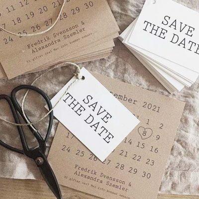 Save the Date Karte mit Aufhänger