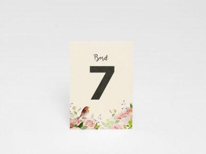 Tischnummerierung Duvemåla Boho