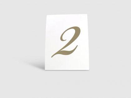 Tischnummerierung Vaxholm